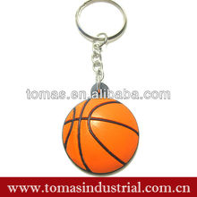 PVC mini basketball keychain