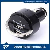 Innovative products colorful 5V 3A dual USB Car Charger