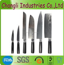 VG-10 Damascus Knife Set with micarta handle