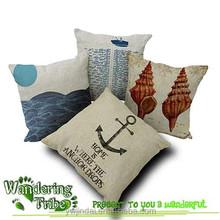 2015 Nautical Anchor Sailor Sailing Sea conch Cotton Pillow Cushion Sofa Pad Home Decoration