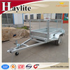 heavy duty galvanised steel box trailer with cage