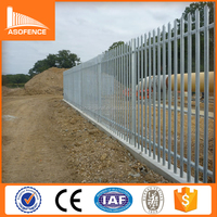Cheap Price Second Hand Galvanized And Plastic palisade fencing prices For Sale