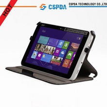 Handstrap Fashionable Multi-angel stand heat setting case for Acer W3 ,book style