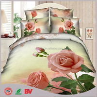 hot saling wholesale home design chinese 3d applique work bed sheet with flower design