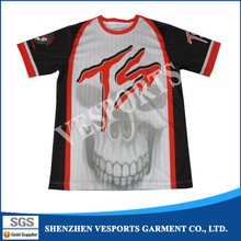 Dye sublimation printing quick dry tee shirts