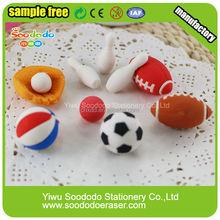 japanese stationery sport shaped custom children toy 3d eraser