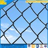 plastic coated dark green chain link fence