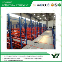 Hot sell best price heavy duty multi lever steel structure warehouse storage mezzanine rack /steel platform shelves (YB-WR-C48)