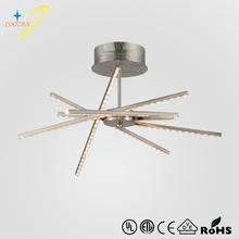GZ30059-6C new design iron brushed nickel modern led ceiling lamp