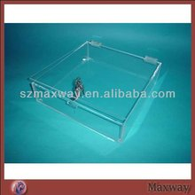 Trasparent Square Lucite/Acrylic Mooncake Box with Lock