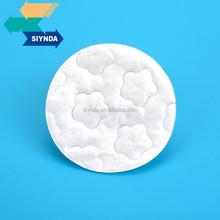 Flor de ameixa impressão rodada almofada de algodão