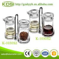 Plastic condiment spice container vinegar pot sets K-1030S2 mason jar with handles