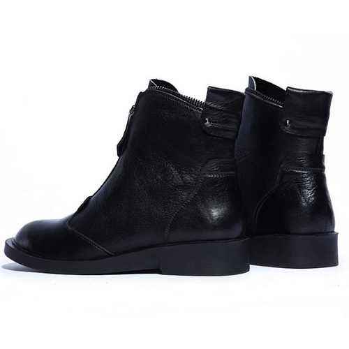 2015 Factory Sale Genuine Leather Ankle Boots For Women Black Brown