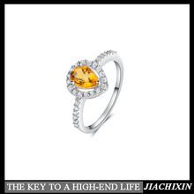 s925 jewelry ring setting citrine marquise natural gemstone factory accept paypal