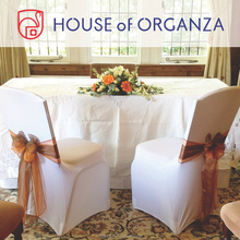 2015 Beautiful Wedding Organza Chair Sash for Chair Cover