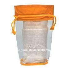 #JD1354 PVC drawstring bag for cosmetic sample
