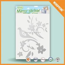 New product graceful football mirror decorative wall sticker