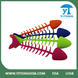 2015 Rubber Fish Dog Toy/China Latest Design Factory Direct Wholesale silicone Fish Dog Pet Toy