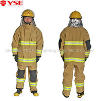 Nomex fire fighting suits with reflective tape