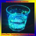 rgb led parpadeando personalizado beber vaso de vidrio