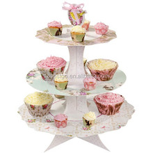 top sale cake store shelf cardboard decorative crystal wedding cake stands