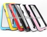 Double Colors TPU Bumper Frame Case Skin Cover for Samsung Galaxy s4 mini i9190 Case