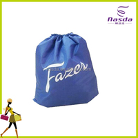Promotional nonwoven fabric small handmade drawstring bag