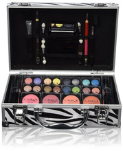 Jumbl Carry All Trunk Makeup Kit with Reusable Aluminum Case Exclusive Holiday Gift Set Makeup Kit - Complete Eye Shadow Make-up