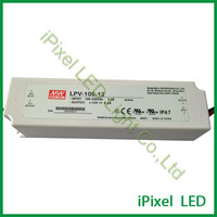 100W dc12v led power,meanwell led strip power ,led pixel light power