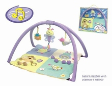 Baby tapete de juego de materiales de felpa, bebé actividad esteras/alfombrillas
