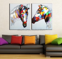abstract horse head painting on canvas