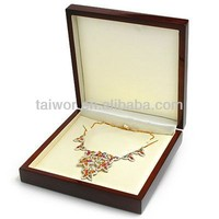 Taiwor Custom Paper or Wooden Necklace Jewelry Holder Stand Organizer Box