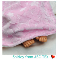 39% Off Super Soft 100% Polyester Star Embossed Minky Blankets For Baby SBB15100901