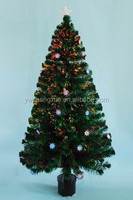 Classical Colorful Pre-lit Fiber Optic Indoor Home Decorative Led Lighted Artificial Christmas Tree