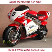 Red Low Price Black 49cc Super Pit Bike Electric Start Pocket Bike for Kids