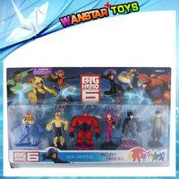 wholesale Big Hero 6 Movie 3.5-4 inch Action Figure Collection Model Toy 6pcs/lot baymax costume with accessories