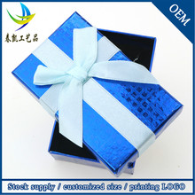 Newest Products 2015 China Supplier Souvenir Gifts Box Blue Jewelry Box For Girl