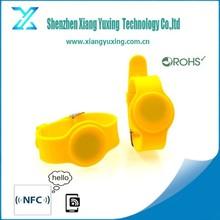 em4100 / 125Khz / MF 1K 4K S70 waterproof silicon RFID wrist bands