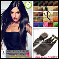 Crazy Hot Sale 2015 Tangle Free Factory Price Quick Delivery Natural Black Dyeable Aliexpress Hair Bundles and Closures