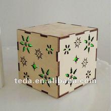 Money saving box square wooden box