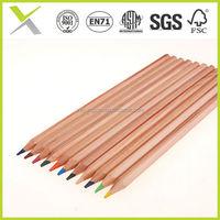 Hot Sales kid pencil colors/HB natural wood triangle shape pencil/12 watercolour pencil
