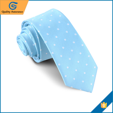 Wholesale Hand made mens blue tie cotton necktie
