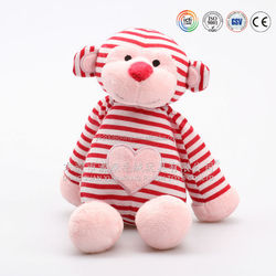 ICTI Aduited factory making stripe sock monkeys
