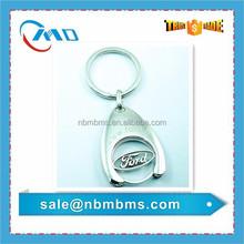 Custom Cut-out Logo Metal Coin Holder Key Chain