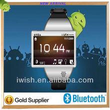 2013 new style for dual sim watch phone waterproof with BT wifi G-senor
