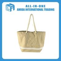 Cotton canvas custom design cotton rope bag