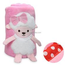 2015 NEW DESIGN BABY BLANKET/plush+animal+baby+blanket
