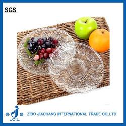 Beautiful heart shap round glass dish plate cake plate salad plate