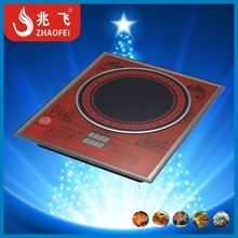 China style single burner crystal plate induction cooker made in Zhongshan OEM