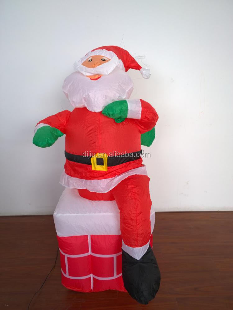 5 pies de altura navidad inflable papá noel en chimenea de la ...